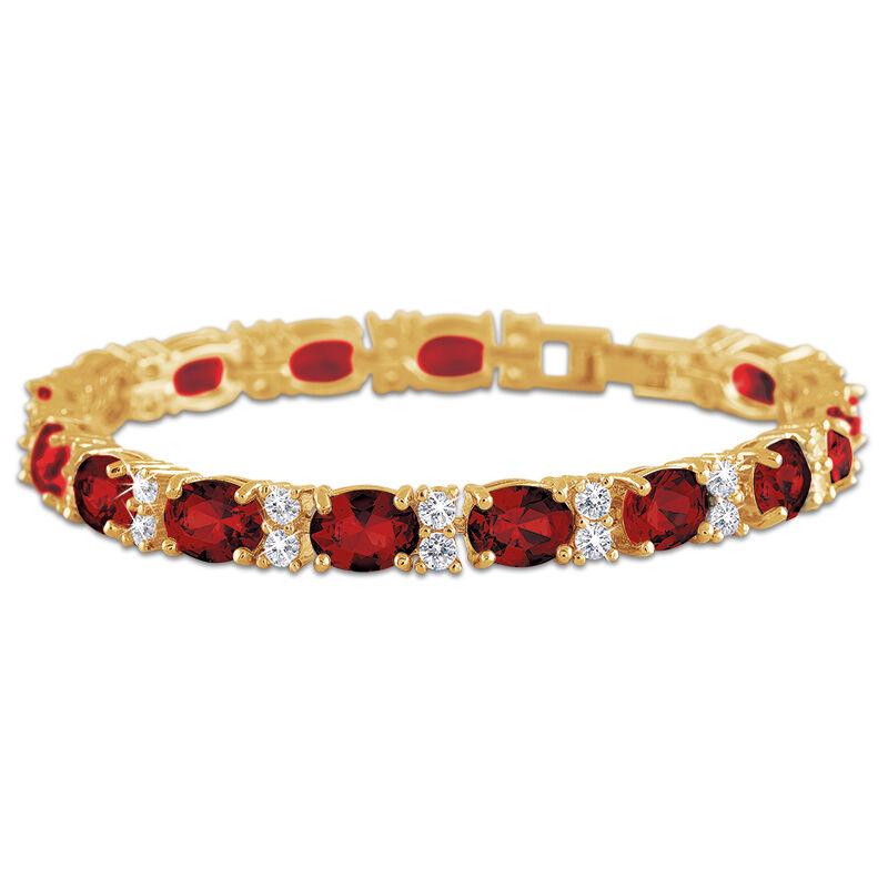 birthstone tennis bracelet UK BDTB2 b two