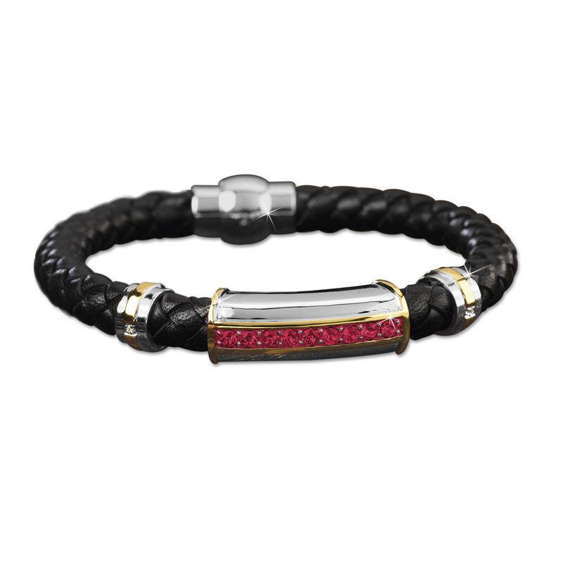 mens birthstone leather bracelet UK MBLBR2 g seven
