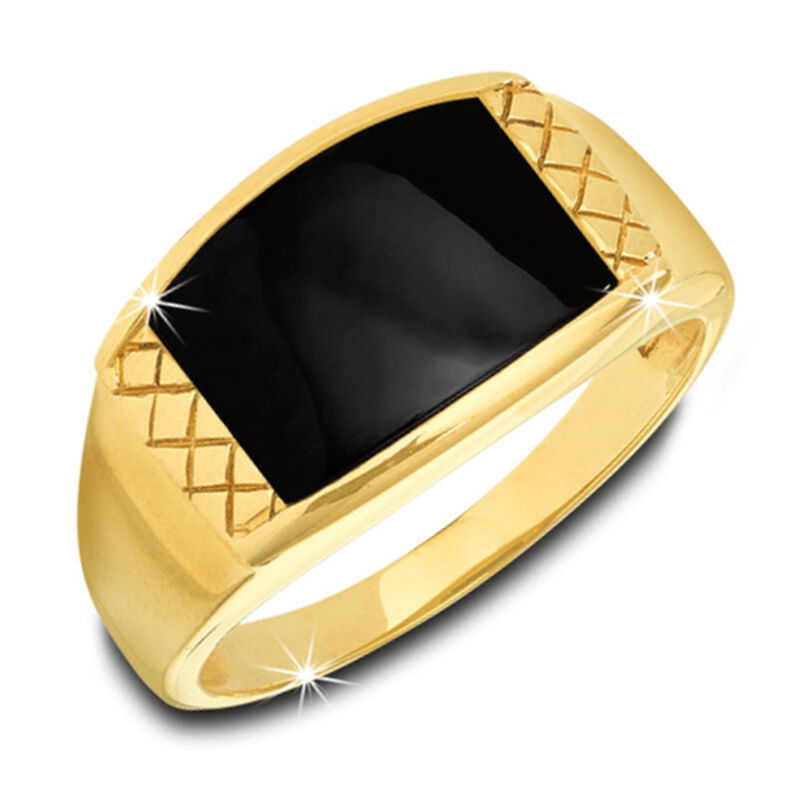 onyx intuition mens 9ct gold ring UK OIMR a main