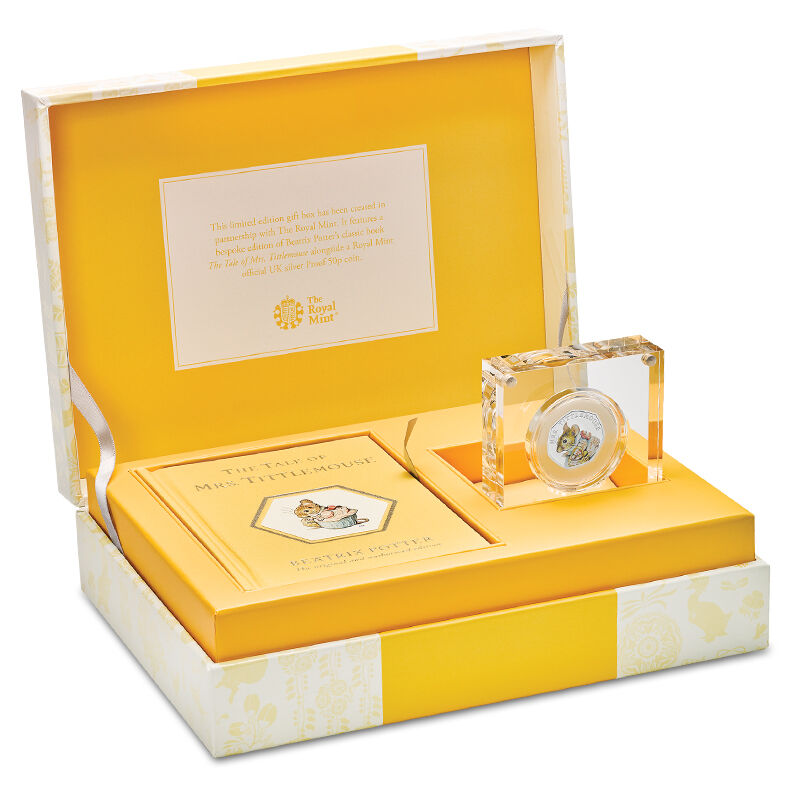 the mrs tittlemouse silver gift set UK BPBTM a main