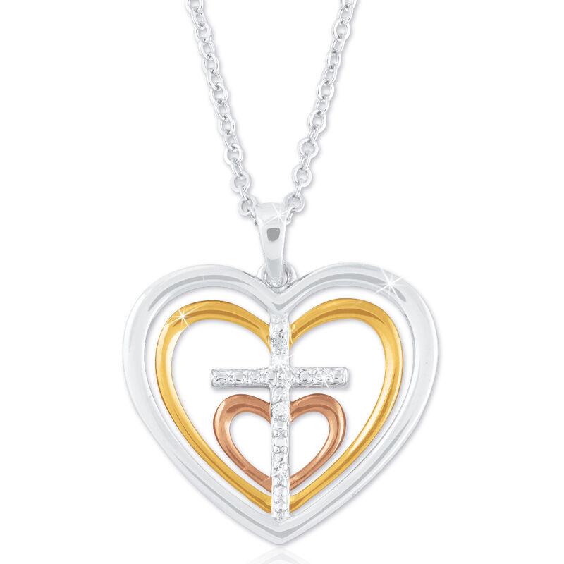 cross my heart diamond pendant UK CMHDP b two