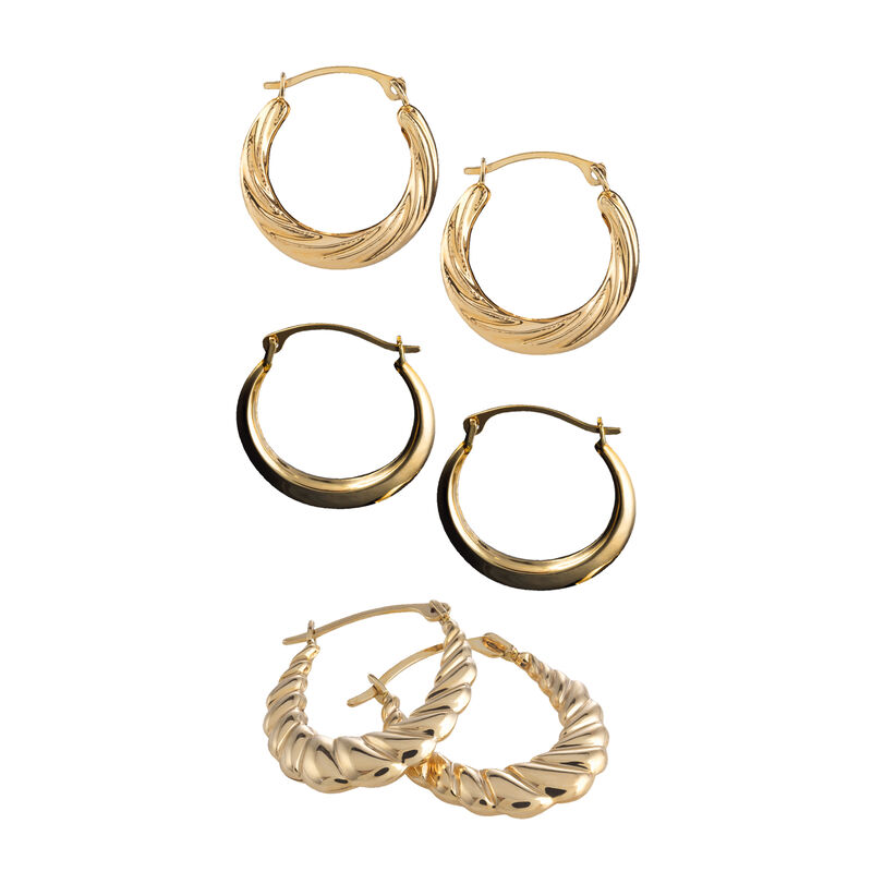The Essential Gold Earring Set 6315 0015 a main