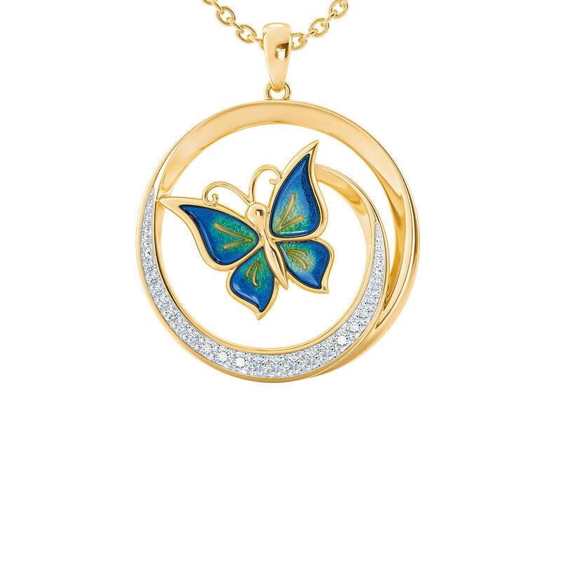 granddaughter butterfly pendant UK GCBP b two