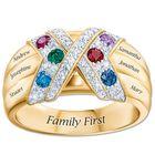 family first birthstone kiss ring UK FFBKR a main