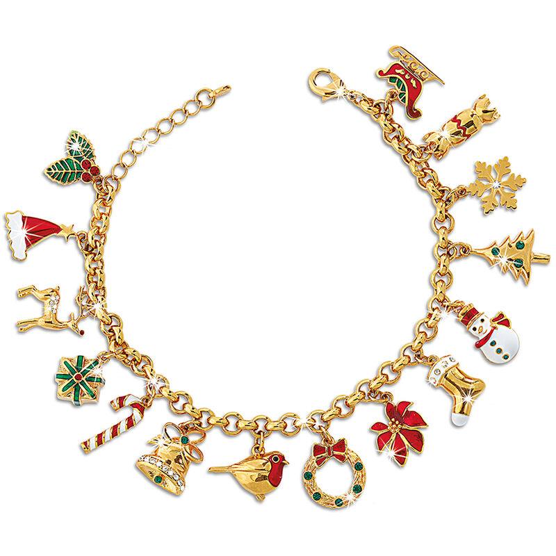 joy of christmas charm bracelet UK JOCCB a main