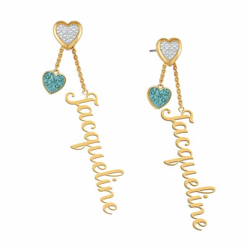 personalised birthstone earrings UK PBEAR l twelve