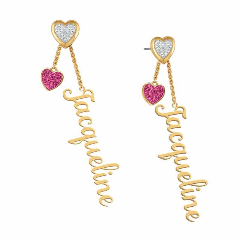 personalised birthstone earrings UK PBEAR e five
