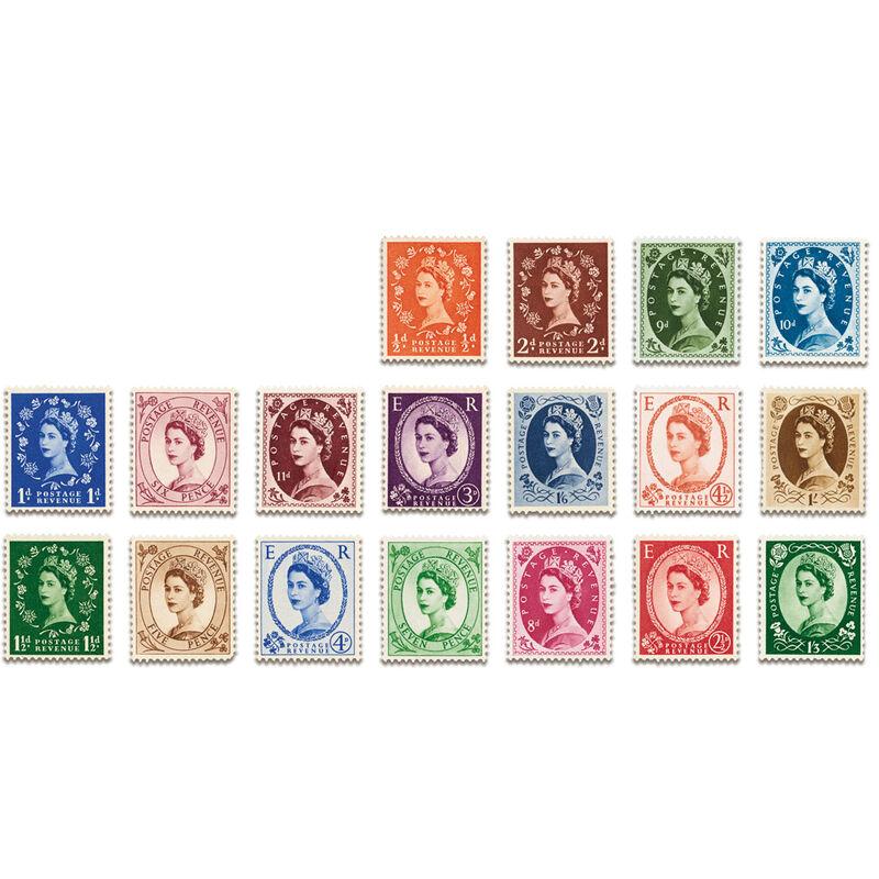 the elizabeth ii definitive stamp collec UK QESC d four