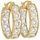 diamond hearts hoop earrings UK DHHOE2 a main