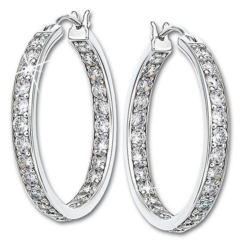 dazzling inside out hoop earrings UK DIOH2 a main