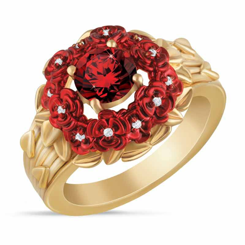 a dozen roses diamond ring UK ADRDR2 a main