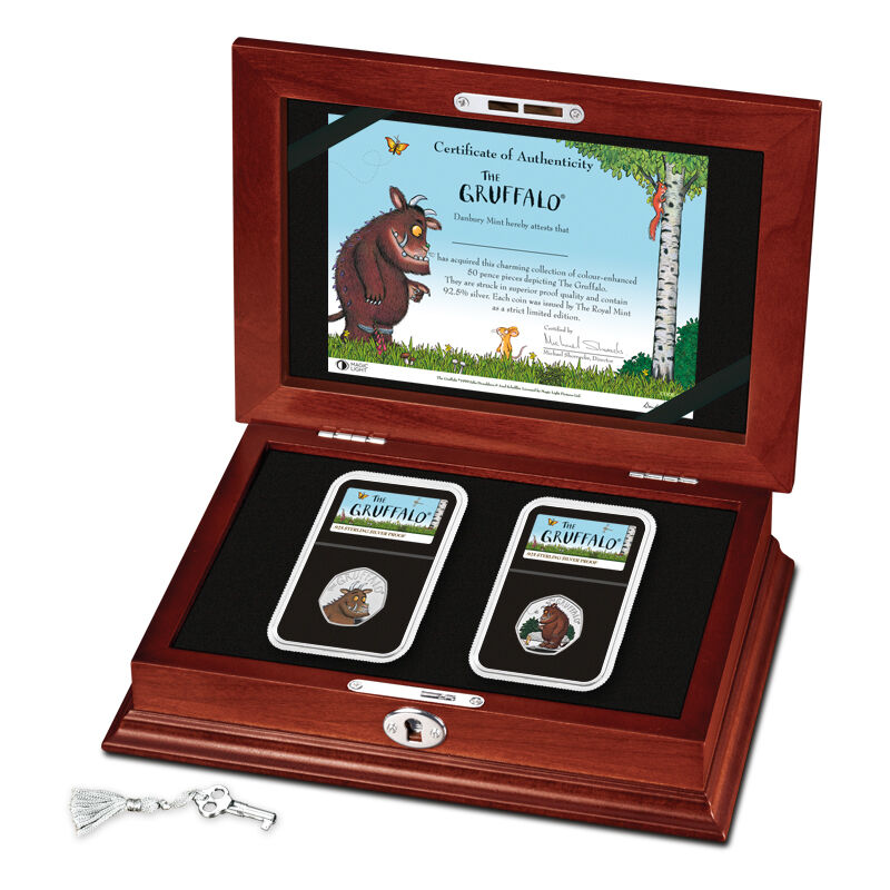 the gruffalo 50 pence silver proof set UK GRPS e five