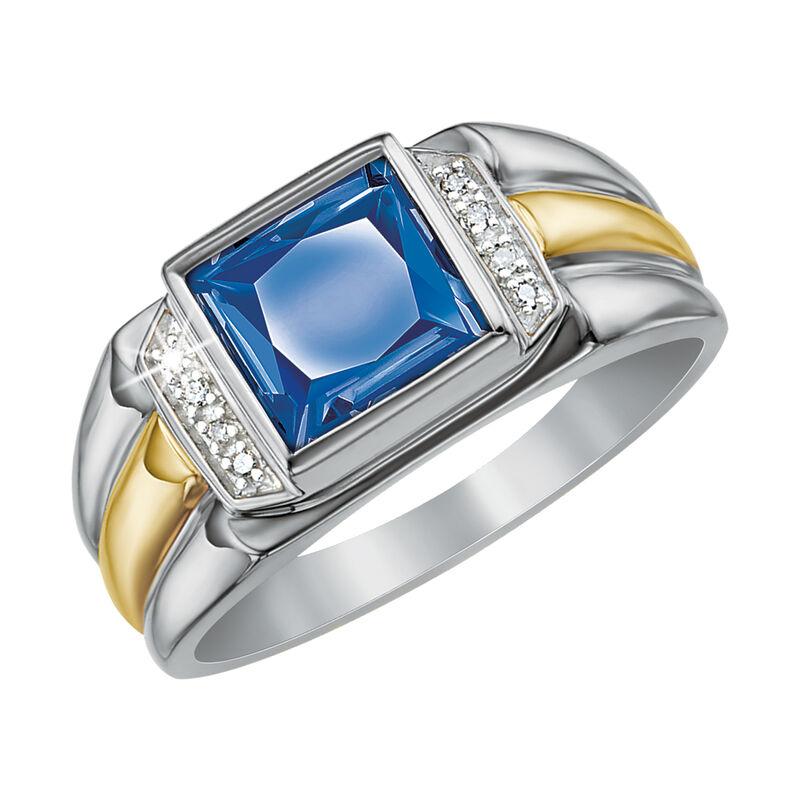 true blue mens created sapphire ring UK NCMSR a main