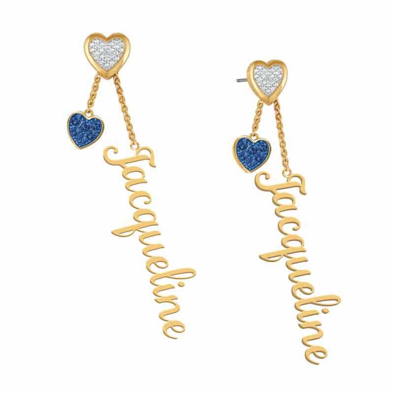 personalised birthstone earrings UK PBEAR f six