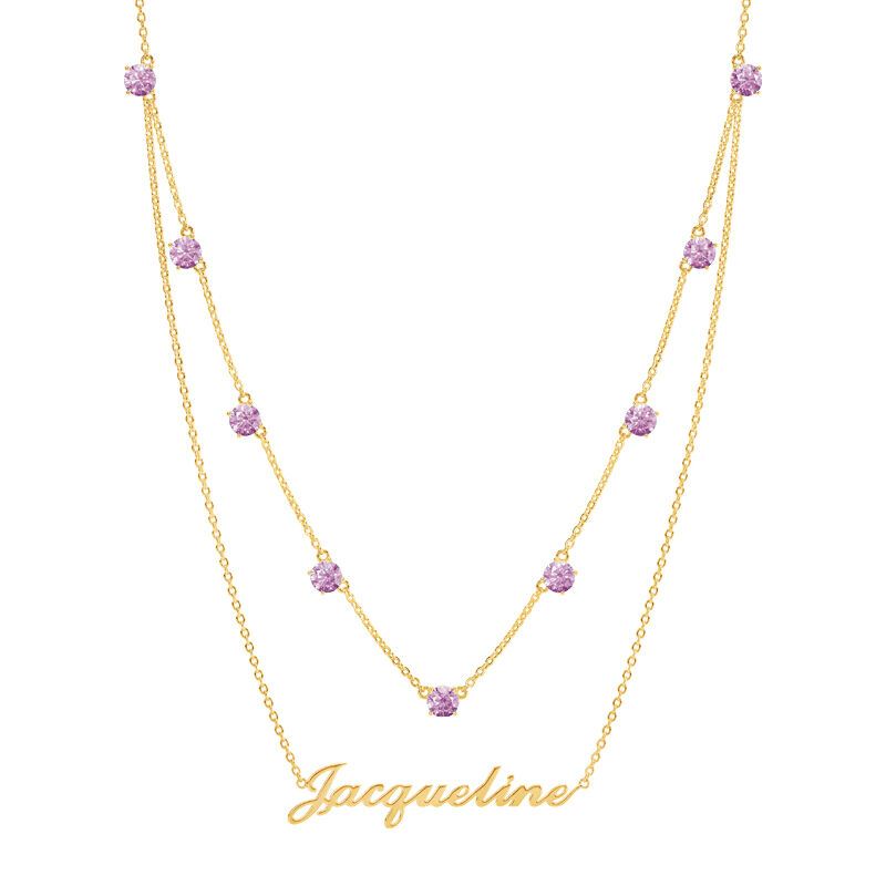 The Birthstone Layered Necklace 6788 001 3 10