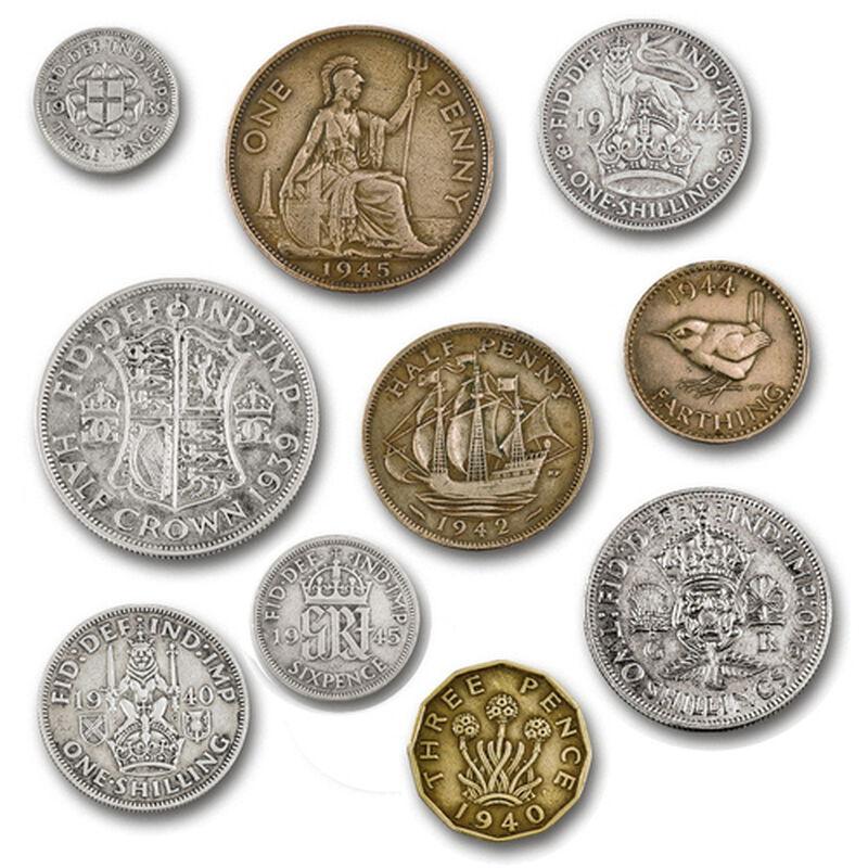 british coins of world war ii UK WW2CR a main