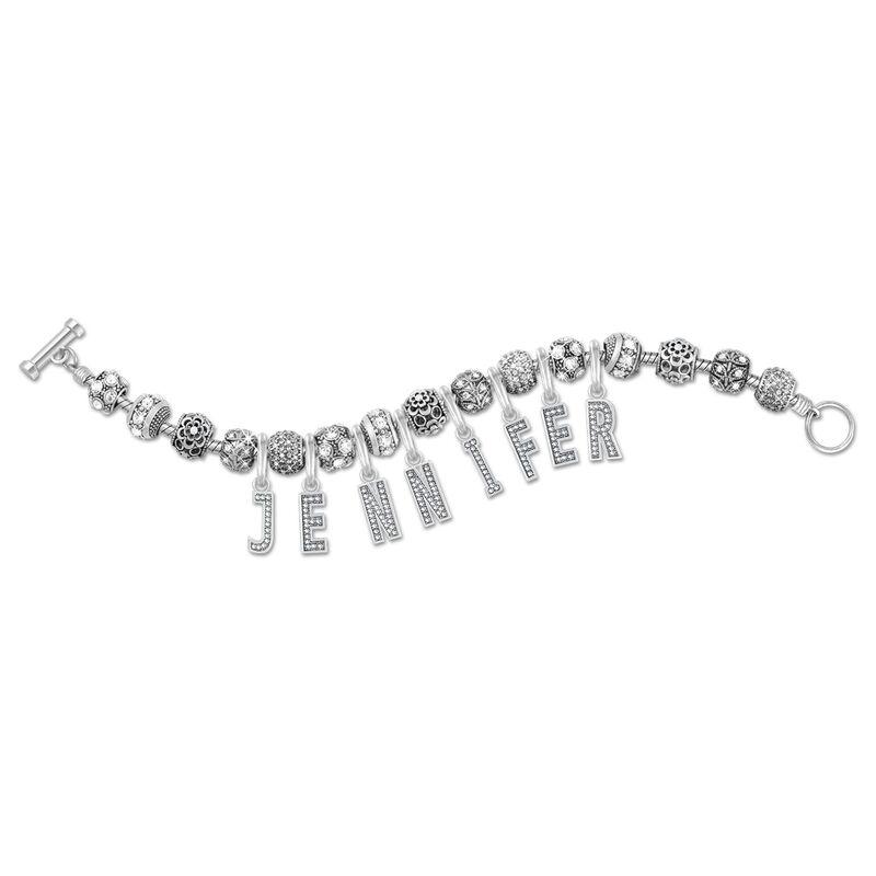 personalised charm bracelet UK PNBB a main