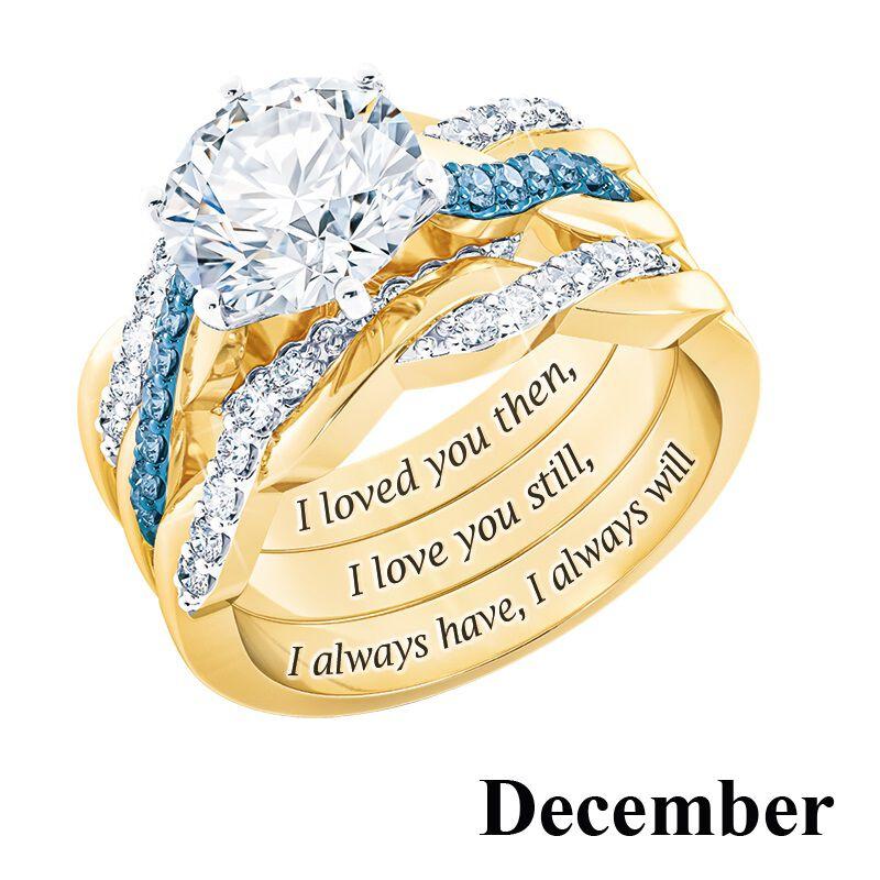 i still do birthstone ring set UK BSDRS n fourteen