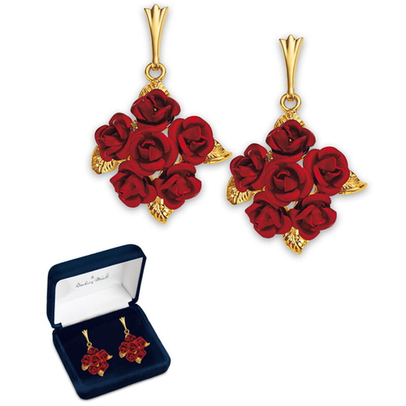 dozen roses earrings UK DREL2 a main