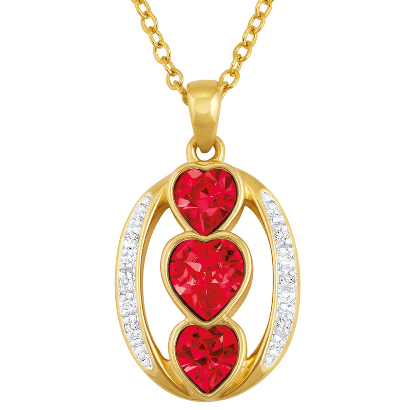i love you birthstone pendant UK ILYBP2 g seven