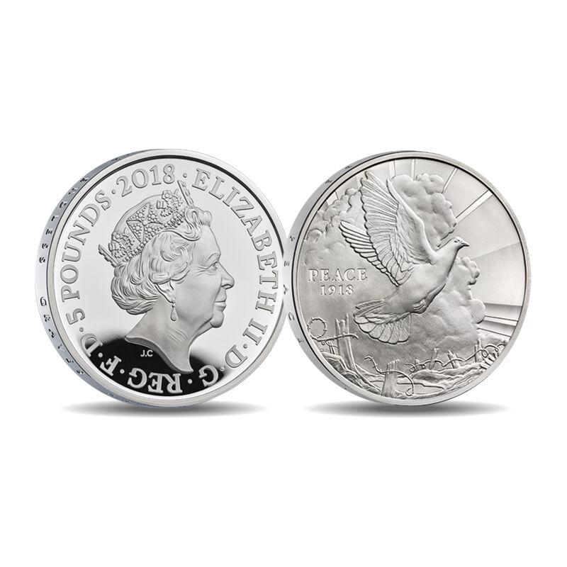 the wwi centenary 5 fine silver proof co UK CWWS e five