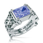 i can do all things birthstone ring UK ICDBR f six