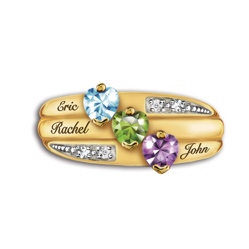 our family birthstone and diamond ring UK FAMRI c three