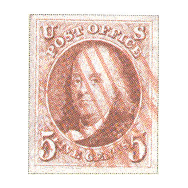the united states first postage stamp UK USSF b two