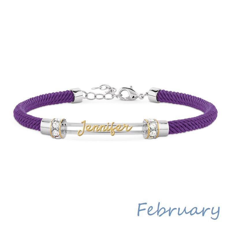 personalised birthstone rope bracelet UK PBRB2 c three