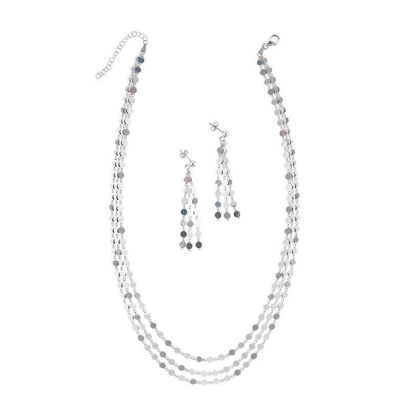 il fascino italian silver necklace earri UK ISSNES a main