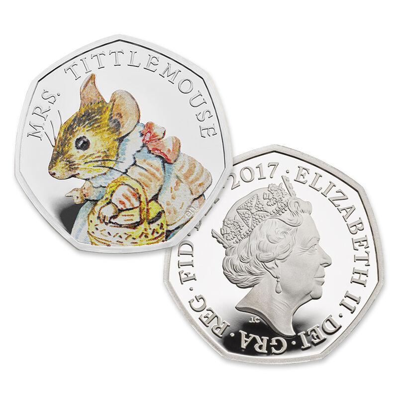 the mrs tittlemouse silver gift set UK BPBTM b two