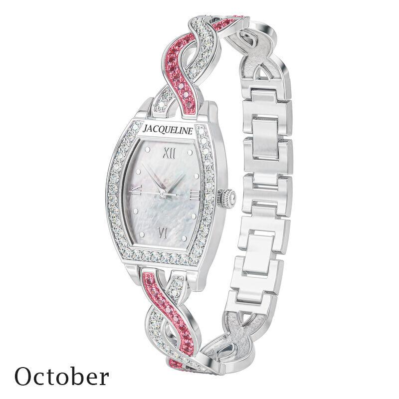 birthstone swirl bracelet watch UK BSWB j october