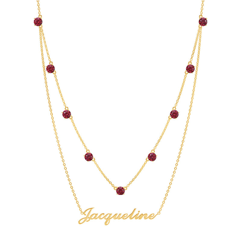 The Birthstone Layered Necklace 6788 001 3 7
