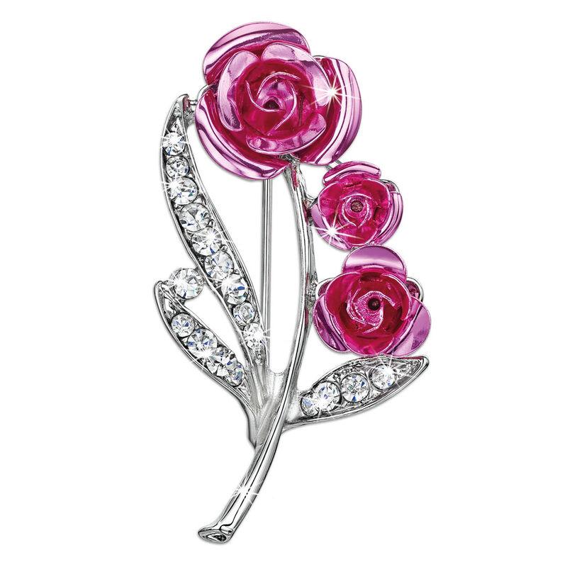 bright beautiful roses brooch UK BBRB2 a main