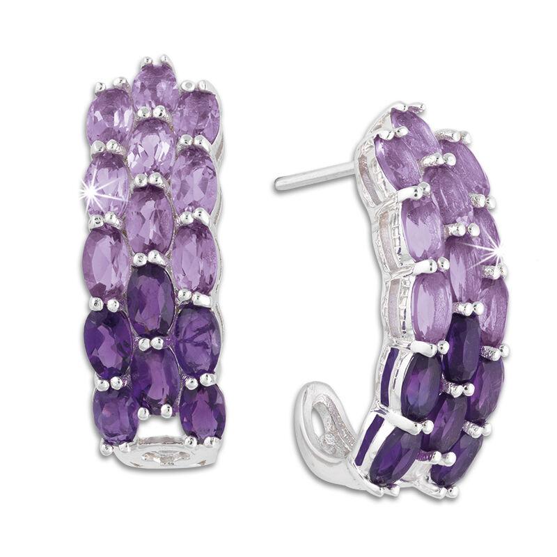 purple passion amethyst earrings UK PPAE a main