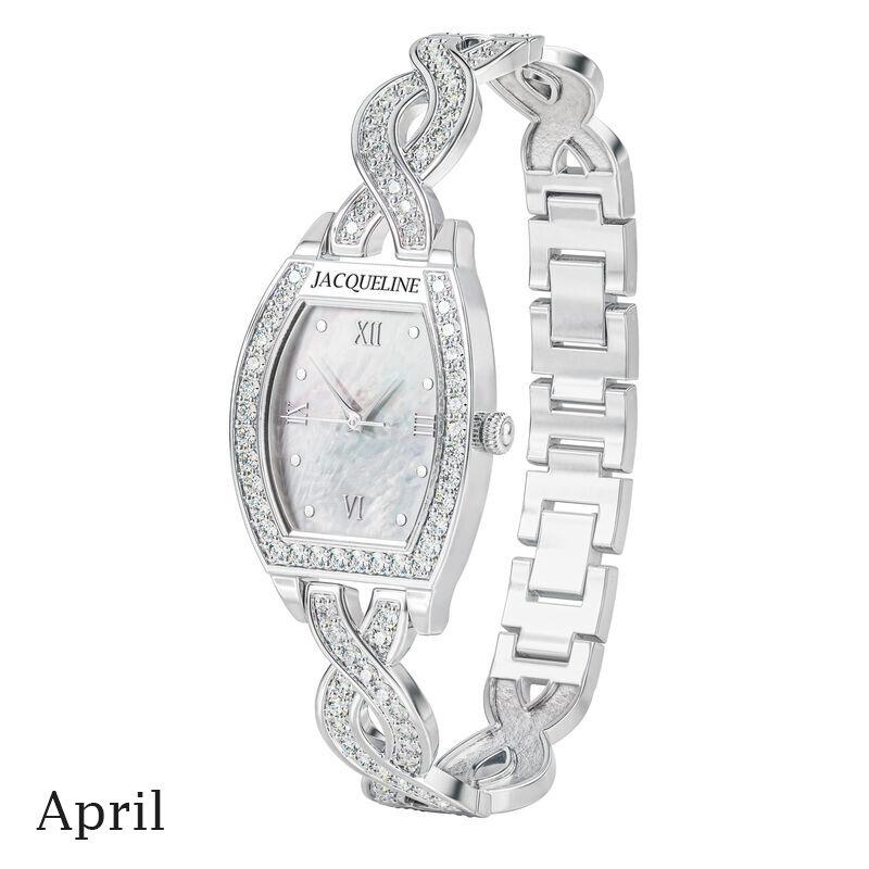 birthstone swirl bracelet watch UK BSWB d april