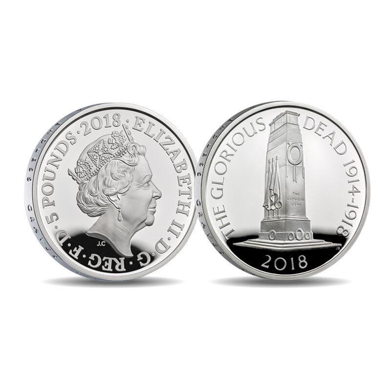 the wwi centenary 5 fine silver proof co UK CWWS f six