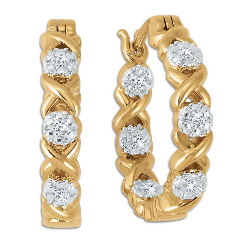 hugs kisses diamond hoop earrings UK HKDHE a main