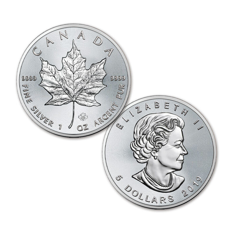 the 2019 early issue silver maple leaf UK C19B a main