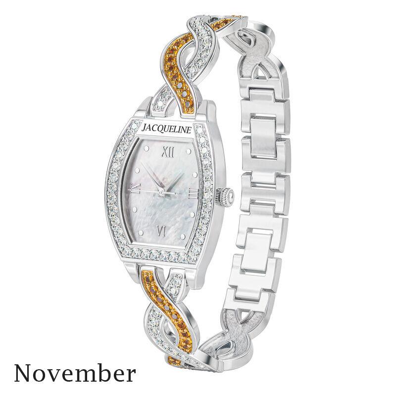 birthstone swirl bracelet watch UK BSWB k november