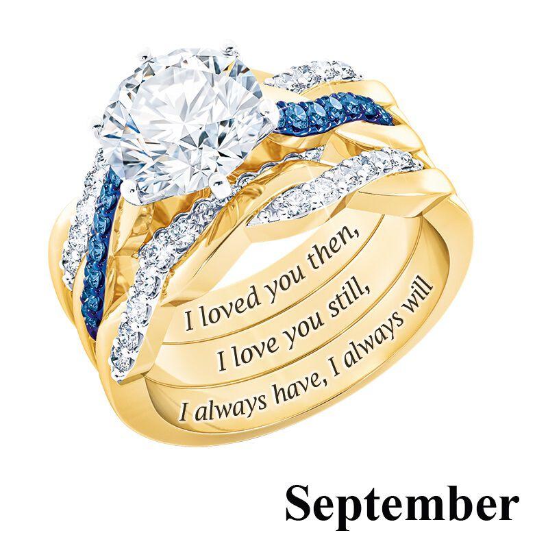 i still do birthstone ring set UK BSDRS k eleven