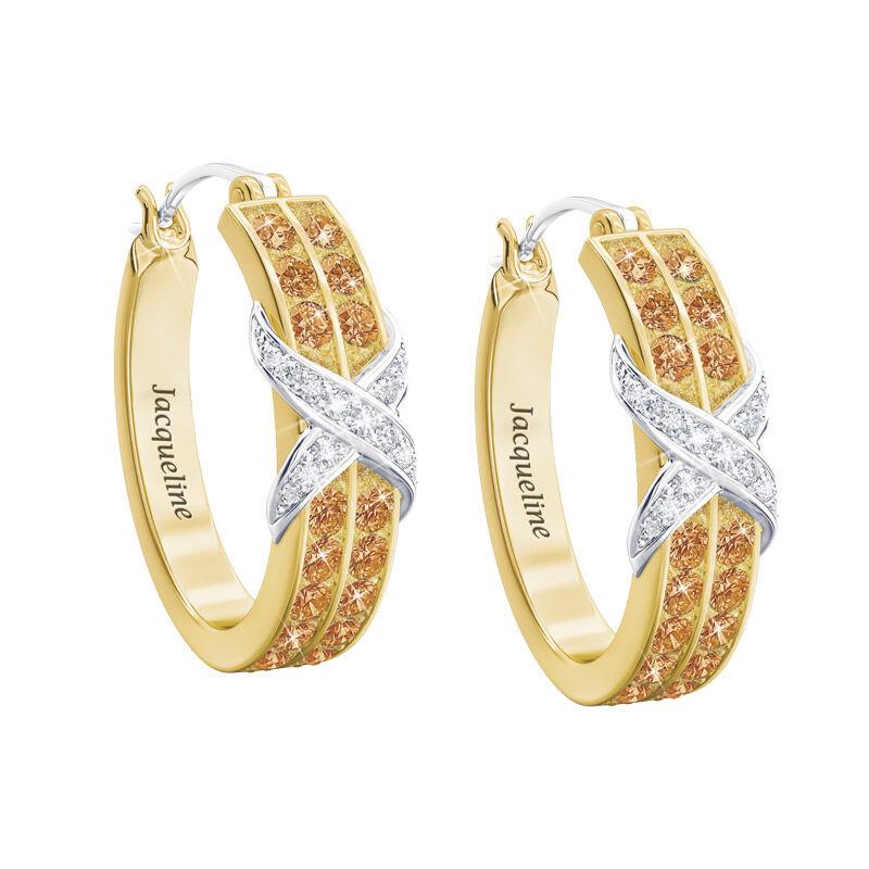 birthstone diamond kiss personalised ear UK BDKPE k eleven