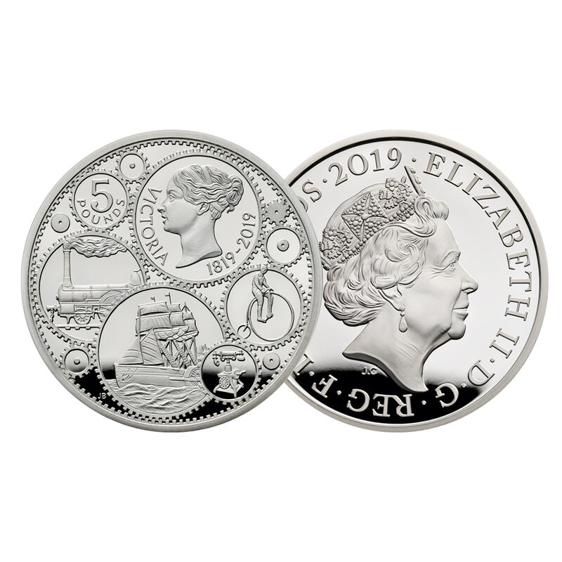 200 years of queen victoria silver crown UK V200C a main