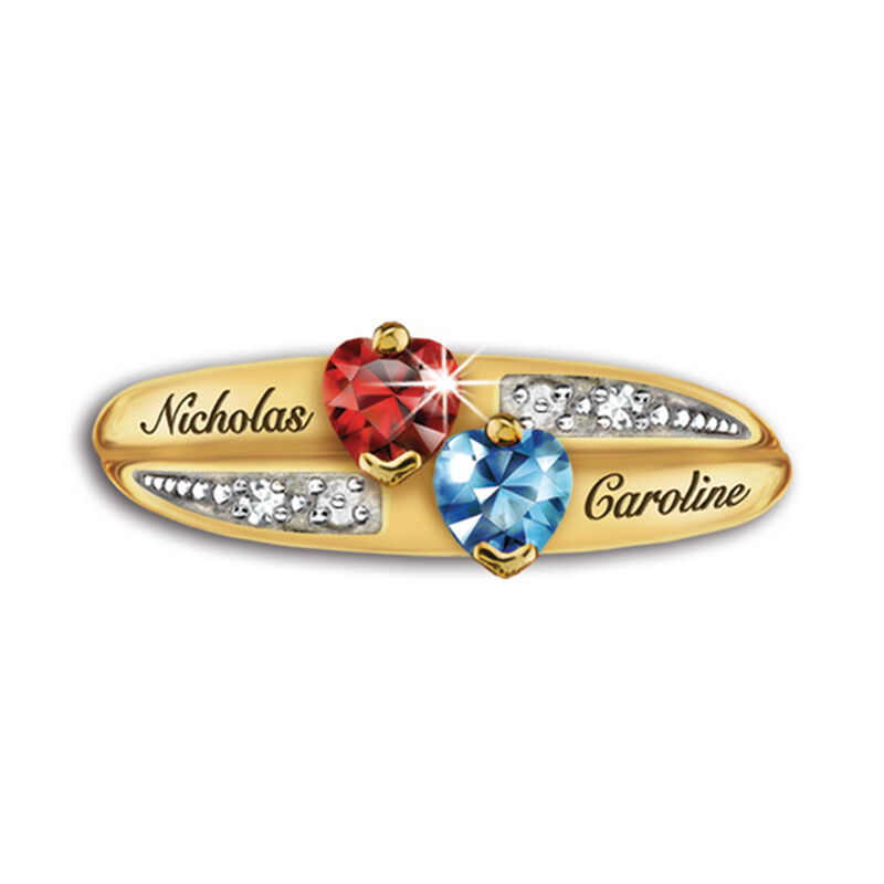 our family birthstone and diamond ring UK FAMRI b two