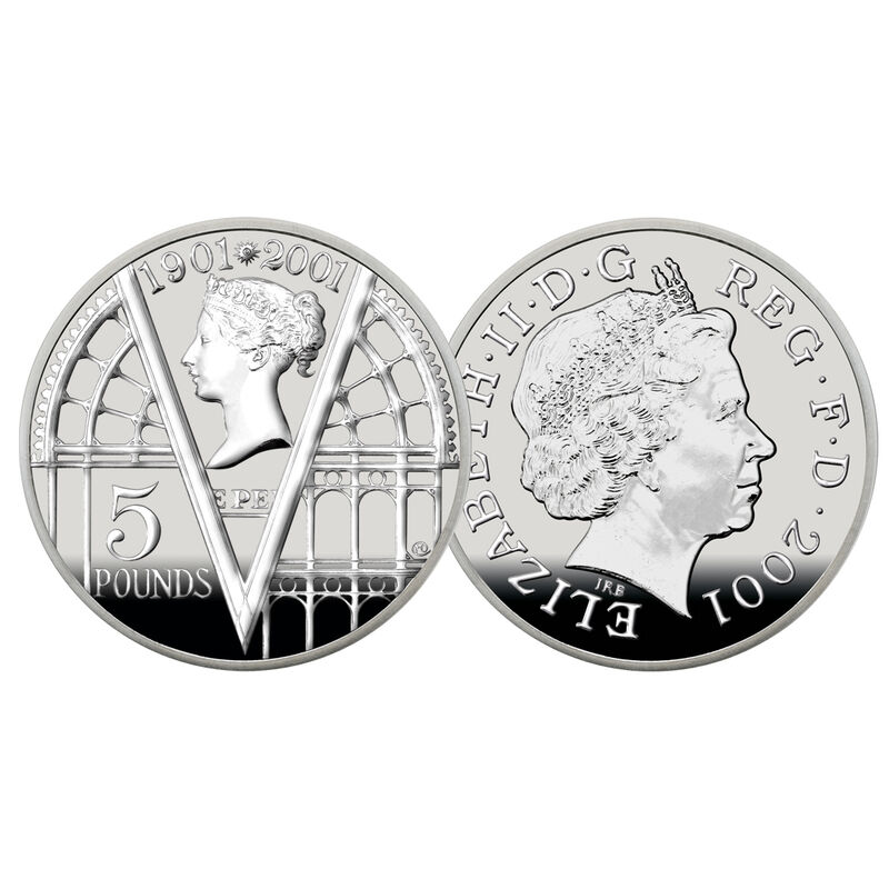 200 years of queen victoria silver crown UK V200C b two