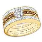 love always brown diamond ring set UK NPLABR a main