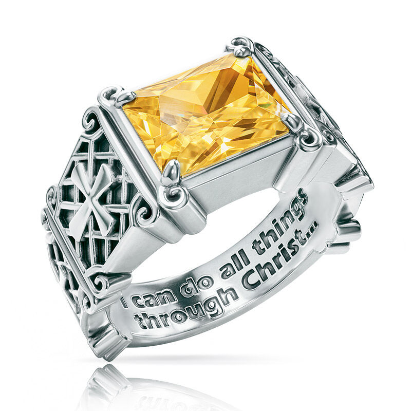 i can do all things birthstone ring UK ICDBR k eleven