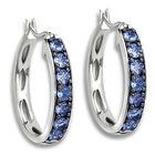 tanzanite sensation hoop earrings UK TSHE a main