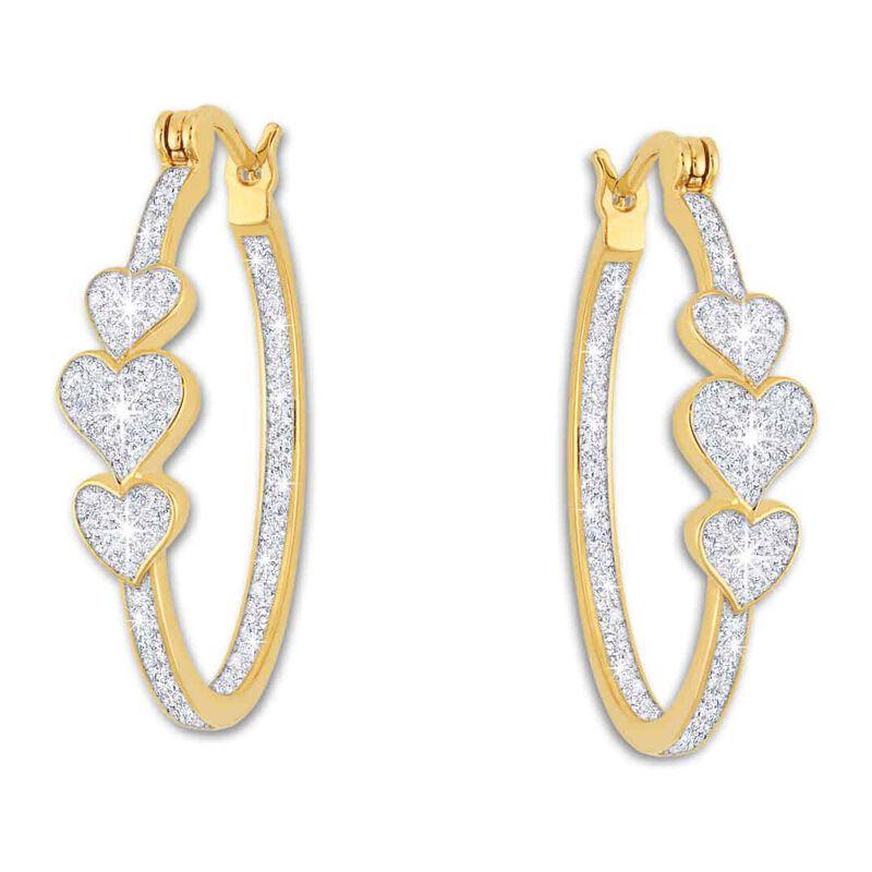 i love you diamond inside out hoop earri UK ILIOH a main