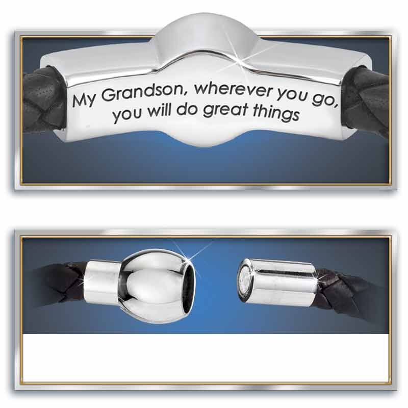 grandson leather bracelet UK CBFMG3 b two